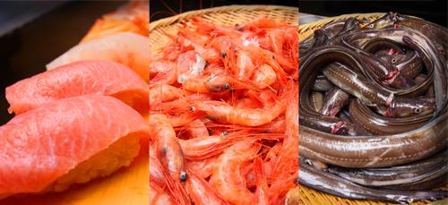 寿司ネタの写真